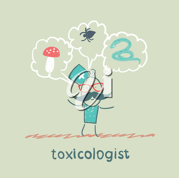 toxicologist thinks of the snake, insects and fungi