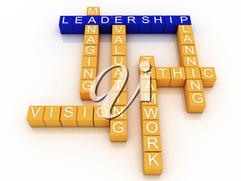 Royalty Free Clipart Image of a Leadership Design With Blocks