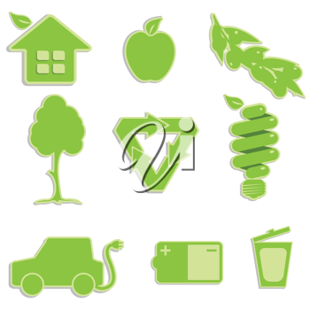 Royalty Free Clipart Image of Ecological Icons