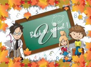 Royalty Free Clipart Image of a Back to School Background