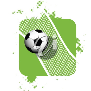 Stock Illustration Soccer Ball on Abstract Background on White Background