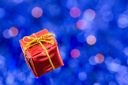 Red present, with shallow depth of field