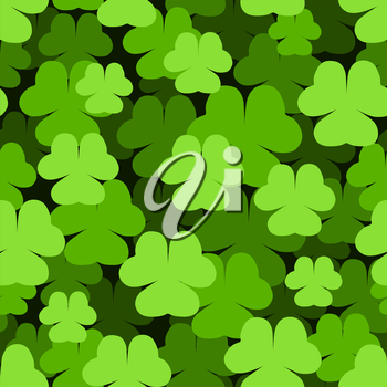 Seamless green shamrock Saint Patrick's Day pattern.