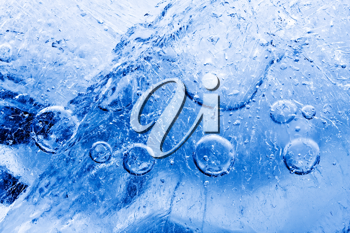Royalty Free Photo of Ice With Air Bubbles