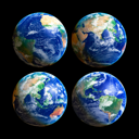 Royalty Free Photo of Four Earths