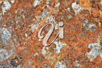Grunge iron rust  texture, old steel corrosion background