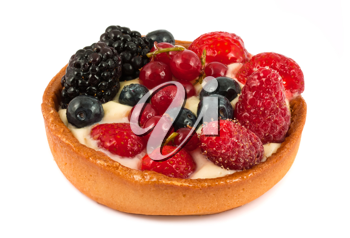 Royalty Free Photo of a Dessert Cake with Fresh Berries