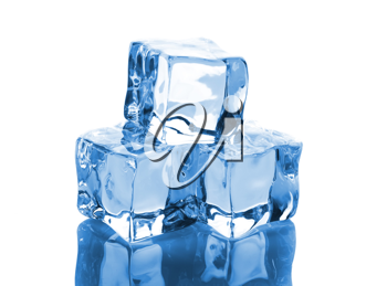 Royalty Free Photo of a Stack of Ice Cubes