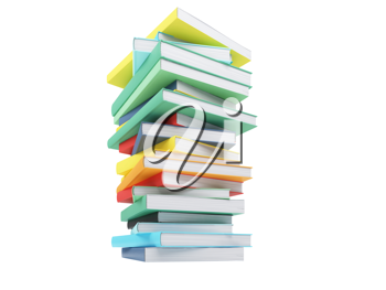 Royalty Free Clipart Image of a Stack of Books