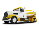 Royalty Free Clipart Image of a Concrete Mixer Truck