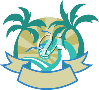 Royalty Free Clipart Image of a Tropical Design