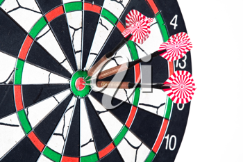 Royalty Free Photo of Darts on a Dartboard