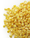Frozen Sweet Corn ,Close Up On White Background
