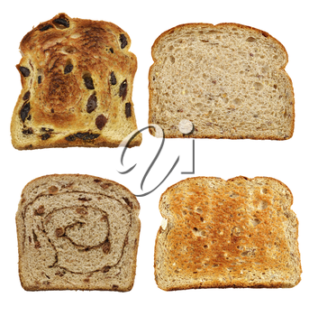 Bread Slices Isolated On White Background