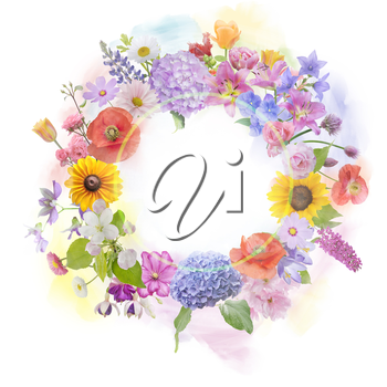 arrangement of colorful flowers for background