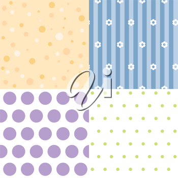 Royalty Free Clipart Image of Four Backgrounds