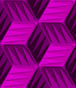 Abstract 3d geometrical seamless background. Pink 3d cubes with embossed texture.