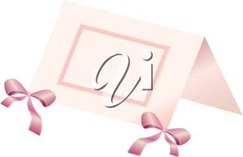 Royalty Free Clipart Image of a Place Card