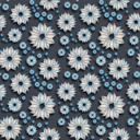 Royalty Free Clipart Image of a Seamless Floral Background