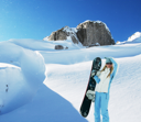 Royalty Free Photo of a Snowboarder