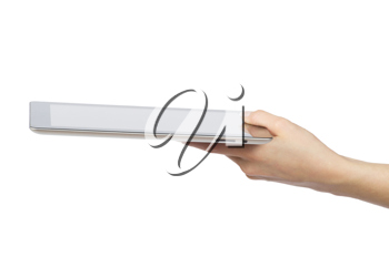 Royalty Free Photo of a Person Holding a Tablet