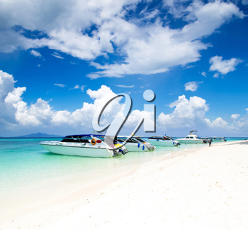 Royalty Free Photo of Boats in the Sea