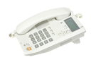 white office telephone on a white  background