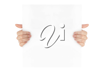 Royalty Free Photo of a Person Holding a Piece of Paper