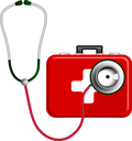 Stethoscope and First Aid Kit
