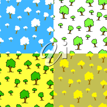 Royalty Free Clipart Image of Tree Backgrounds