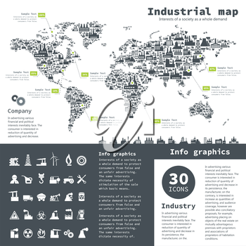 Industrial collection for design. A vector illustration