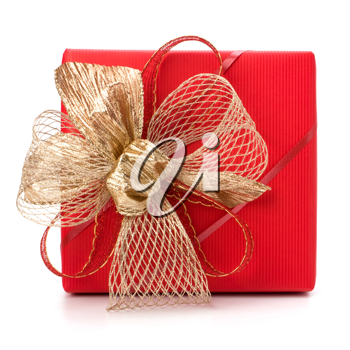 Luxurious gift isolated on white background