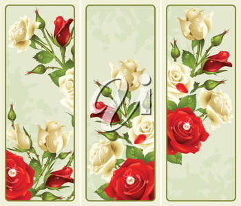 Royalty Free Clipart Image of Rose Elements
