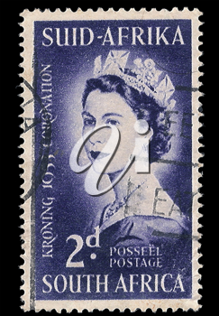 Royalty Free Photo of a Queen Elizabeth Stamp
