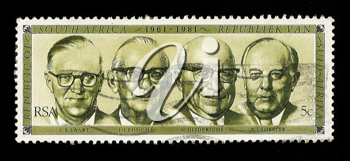 Royalty Free Photo of a Stamp of South African Presidents