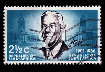 Royalty Free Photo of a Prime Minister H.F. Verwoerd Stamp