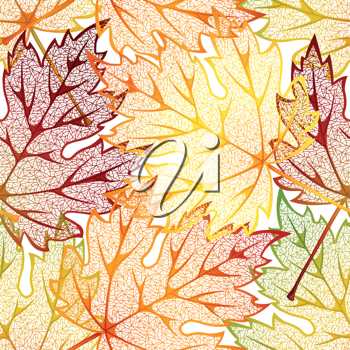 Royalty Free Clipart Image of a Autumn Leaf Background
