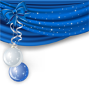 Royalty Free Clipart Image of a Blue and White Christmas Background