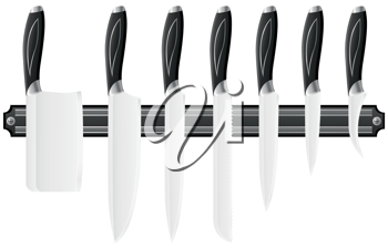 Royalty Free Clipart Image of a Knife Set