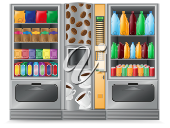 Royalty Free Clipart Image of Vendinng Machines
