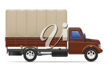 cargo truck for transportation of goods vector illustration isolated on white background