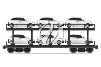 railway carriage train vector illustration isolated on white background