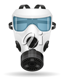 respirator breathing mask for protection against diseases and infections transmitted by airborne droplets stop virus vector illustration isolated on white background