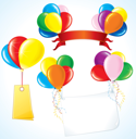 Royalty Free Clipart Image of Balloon Banners