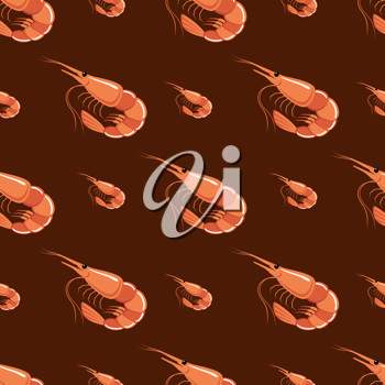 Royalty Free Clipart Image of a Shrimp Background