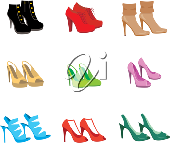 Royalty Free Clipart Image of Female Shoes