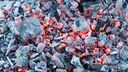 burning charcoal as a background. texture