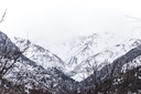 snow-capped mountains of the Tian Shan in winter