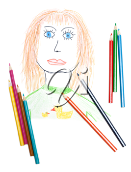 Royalty Free Photo of a Drawing of a Woman