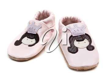 Royalty Free Photo of a Pair of Baby Slippers